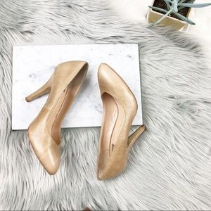 DV by Dolce vita nude leather pumps /heels size 7